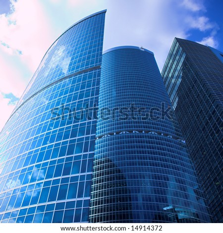 New skyscrapers business centre in moscow city, russia - stock photo