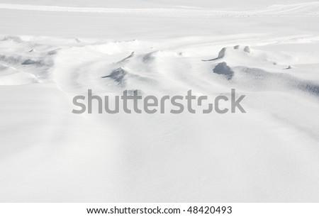 New Snow Fall - Snow Ground - stock photo