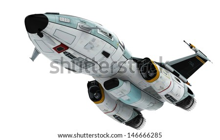 new space down view - stock photo