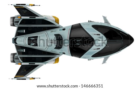 new space front up view - stock photo