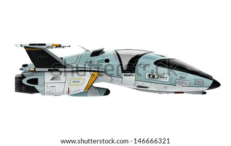 new space side view - stock photo