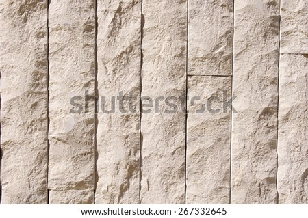 New stone cladding plates on the wall closeup  - stock photo