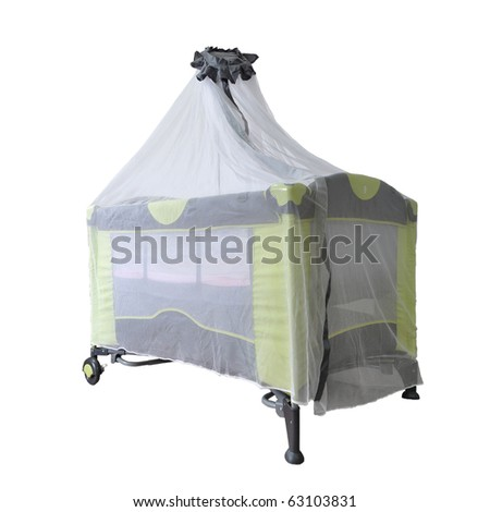 New style of child crib cover with its net - stock photo