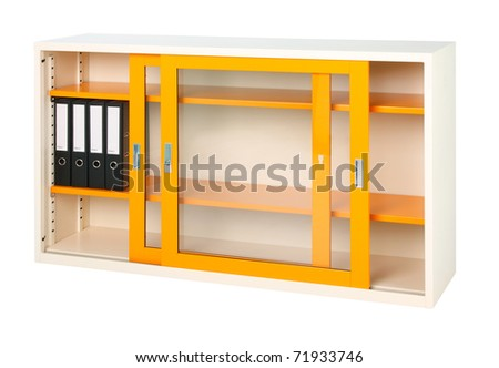 New style of steel furniture for offices and factory isolated on white - stock photo
