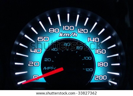 new style speedometer - stock photo