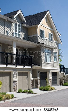 New Suburban Homes - stock photo