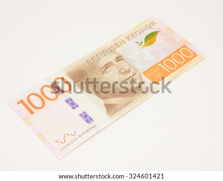 New Swedish bank note. NOTE: the new 2015 model. - stock photo