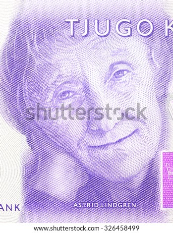 New Swedish 20 SEK  bank note. NOTE: the new 2015 model. - stock photo