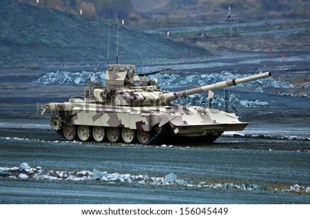 new T-90MC is a Russian main battle tank (MBT)  - stock photo
