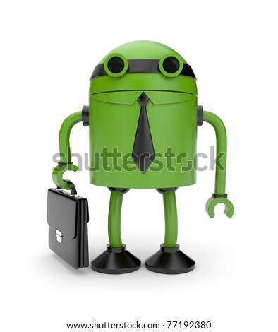New technology in business metaphor - stock photo