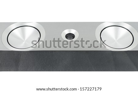 New Technology speaker premium surround sound system  - stock photo