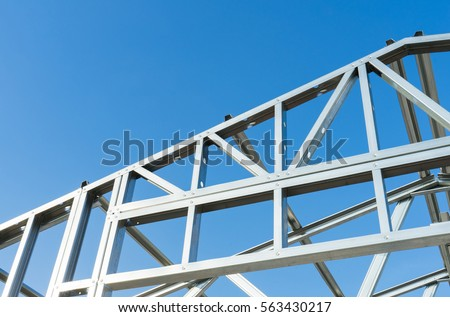 New Technology Steel Frame Construction Stock Photo & Image (Royalty ...