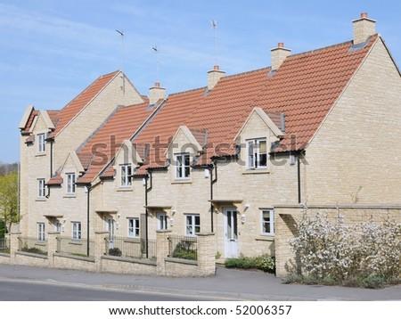 New Terrraced Houses - stock photo