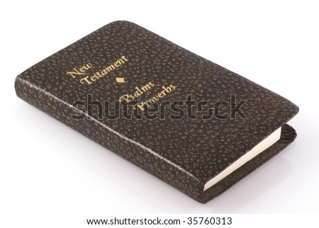 New testament isolated on  white background.