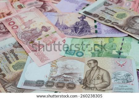 New Thailand bank notes - stock photo