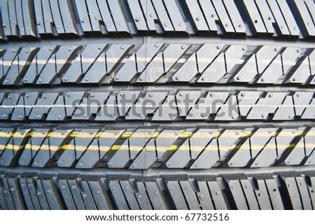 New tire texture - stock photo