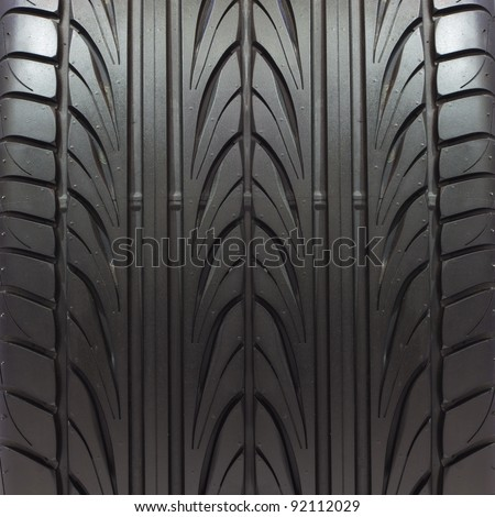 new tire texture - stock photo