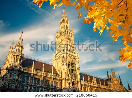 New Town Hall in Munich, Germany - stock photo