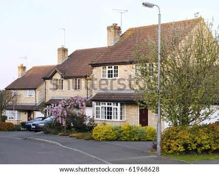 New Town Houses - stock photo