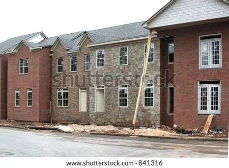 New Townhome Construction - stock photo