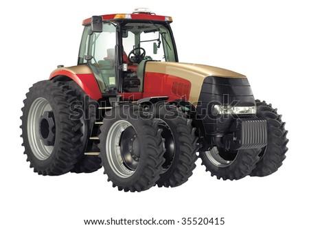 New tractor - stock photo