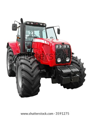 new tractor - stock photo
