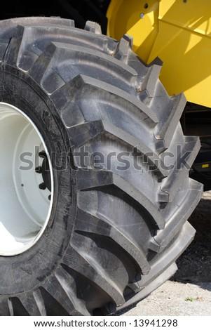 New tractor tyre - stock photo