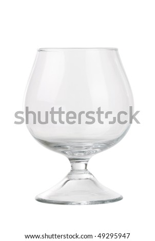 New transparent wineglass isolated on white - stock photo