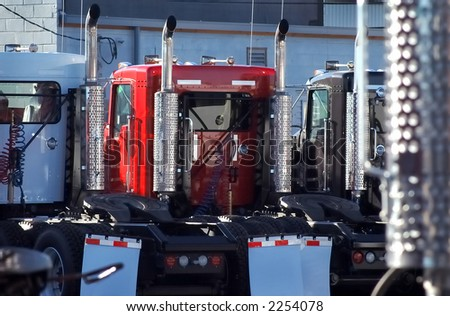 New Trucks - stock photo