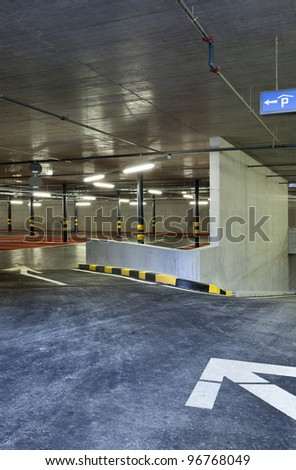new underground parking, entry