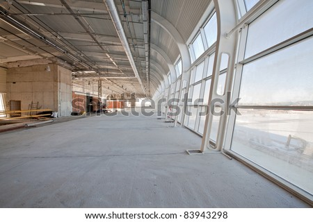 New unfinished building of airport