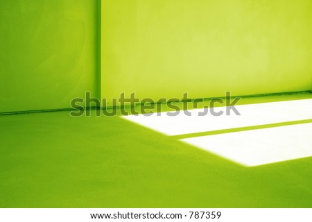 New unfinished house detail, green toned - stock photo