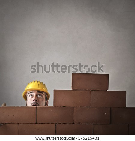 new walls - stock photo