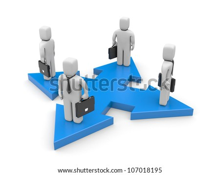 New ways for business - stock photo
