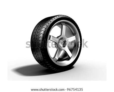 New wheel - stock photo