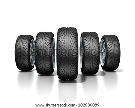 New wheels - stock photo