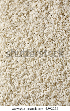 New white rug background texture - stock photo