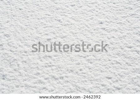 New white snow on ground - stock photo