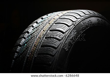 New winter tire - stock photo