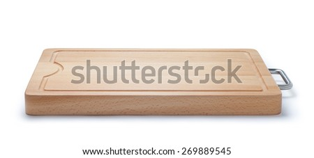New wooden cutting board - stock photo
