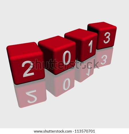 new year 2013 - stock photo