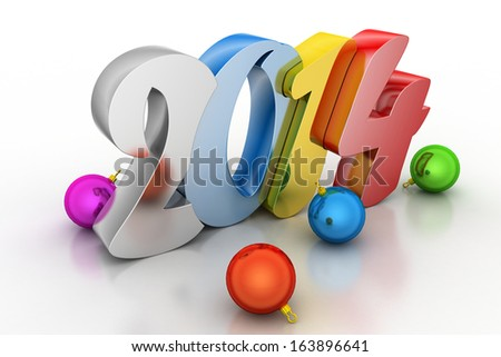 New year 2014 - stock photo