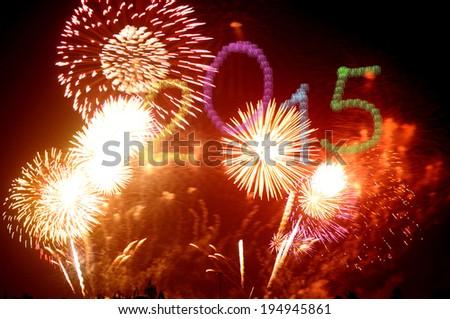 New Year 2015 - stock photo