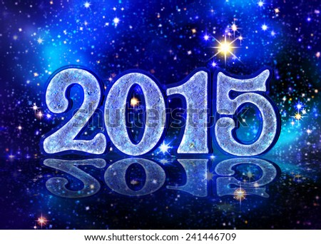 New Year 2015. - stock photo