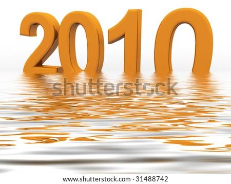 New Year 2010 - stock photo