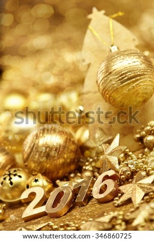 New Year 2016 - stock photo