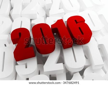 New year 2016 - stock photo