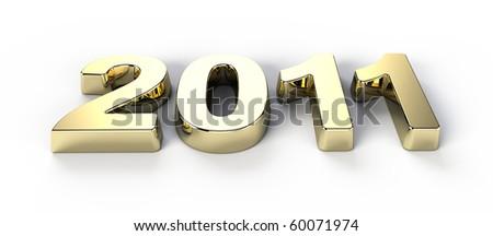 New year 2011 - stock photo