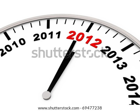 New year 2012 - stock photo