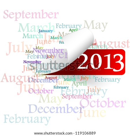 new year 2013, a month - stock photo